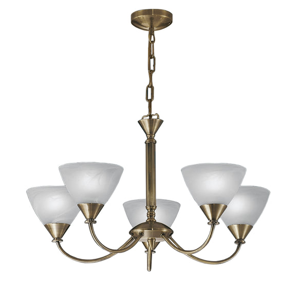 Franklite PE9665-786 Meridian 5 Light Brushed Bronze Dual Mount Ceiling Light