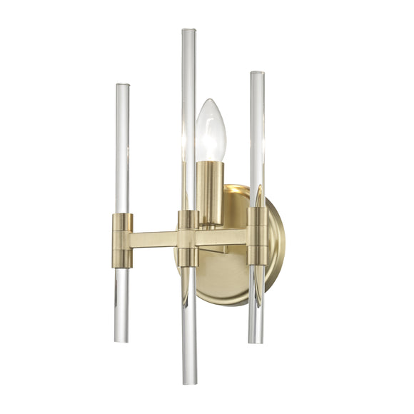 Impex Lighting PG1701-01-WB-SG Verna 1 Light Satin Gold And Glass Wall Light