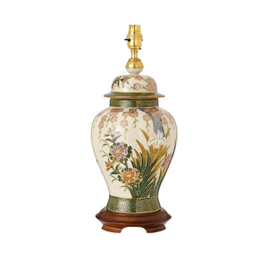 Interiors 1900 RJ428 Lily & Irises Kutani Table Lamp