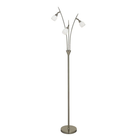 Franklite SL220 Lutina 3 Light Satin Nickel Floor Lamp