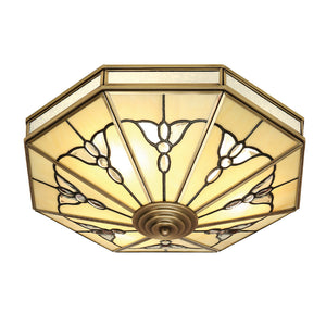 Interiors 1900 SN03FL46 Gladstone 4 Light Solid Brass Flush