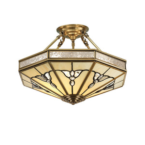 Interiors 1900 SN03P46 Gladstone 4 Light Solid Brass Semi-Flush