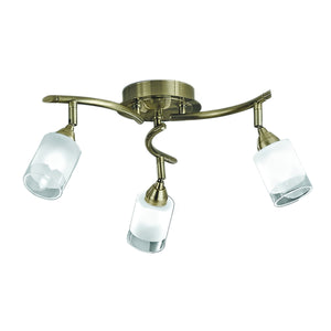 Franklite SPOT8773 Campani 3 Light Bronze Ceiling Spotlight