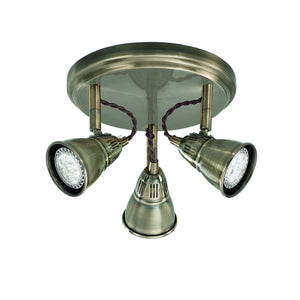 Franklite SPOT8953 Rustica 3 Light Bronze LED Ceiling Spotlight