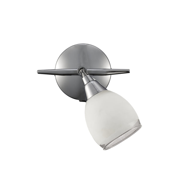 Franklite SPOT8961 Lutina 1 Light Polished Chrome Wall Spotlight (Switched)