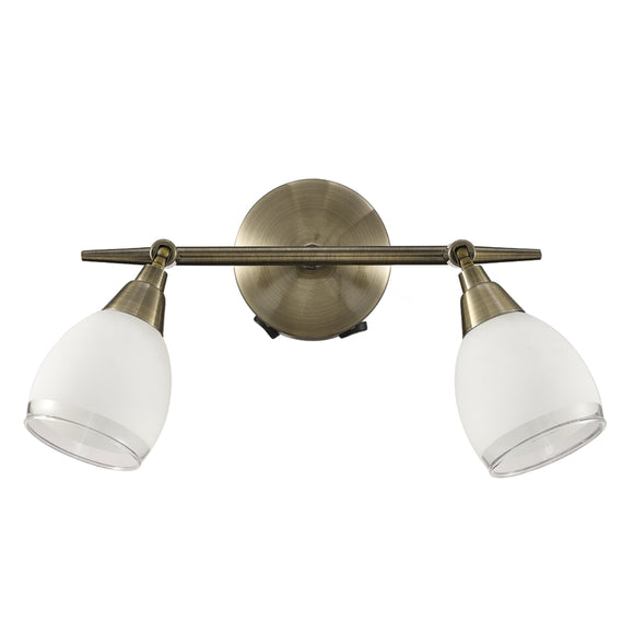 Franklite SPOT8982 Lutina 2 Light Bronze Wall Spotlight (Switched)