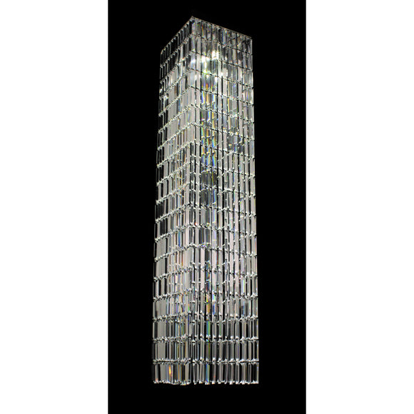 Impex Lighting ST005045-SQ-CH Crystal Art 4 Light Polished Chrome And Crystal Pendant Ceiling Light