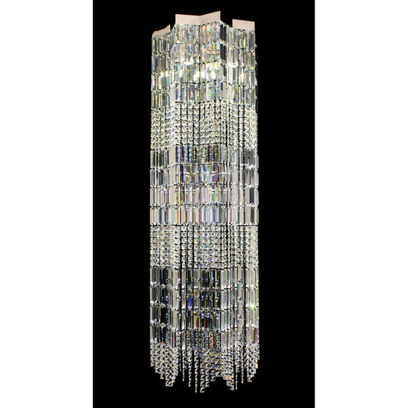 Impex Lighting ST005049-STAR-CH Crystal Art 4 Light Polished Chrome And Crystal Pendant Ceiling Light