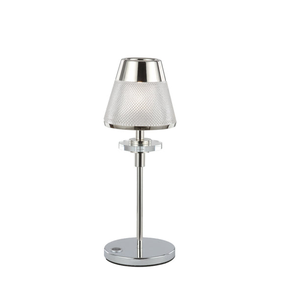 Franklite TL502 Concept 1 Light Polished Chrome Table Lamp