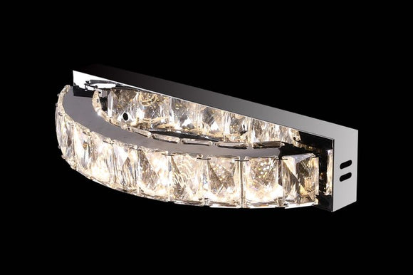 Eclipse 25565 Chrome-Crystal 3000K-6000K Tuneable White 1 Light LED Wall Light