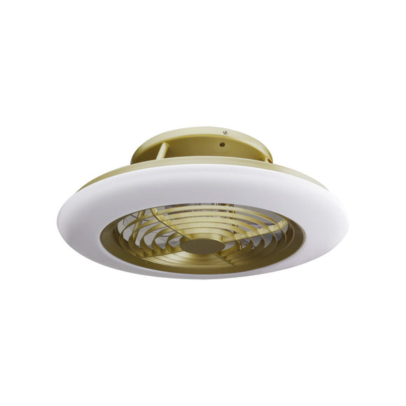 Mantra M6707 Alisio 70W LED Dimmable Ceiling Light With Built-In 35W DC Reversible Fan Gold-White (Remote Control & App)