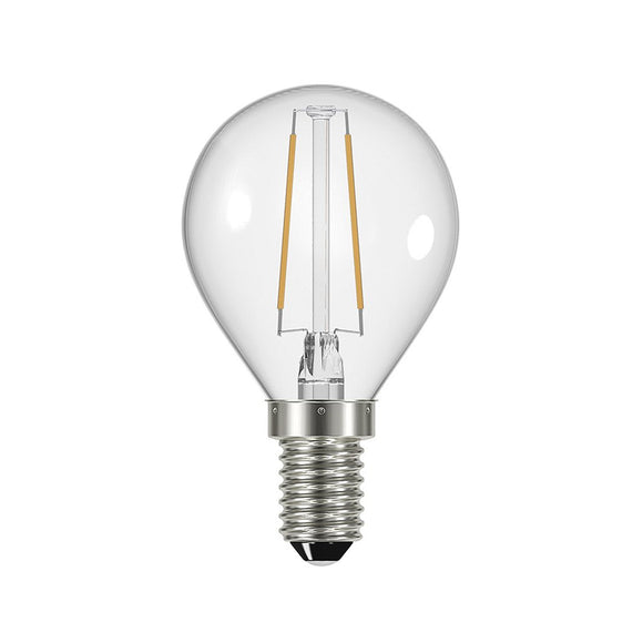 C-Lighting 25350 4w SES - E14 Dimmable Golfball Lamp 360 Lumen Clear (2700k)