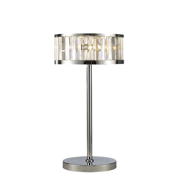 Diyas IL30176 Torre 3 Light Polished Chrome-Crystal Table Lamp