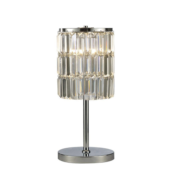 Diyas IL30178 Torre 3 Light Polished Chrome-Crystal Table Lamp