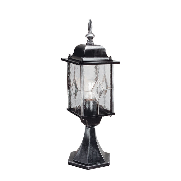 Elstead Lighting WX3 Wexford Black Silver Outdoor Pedestal