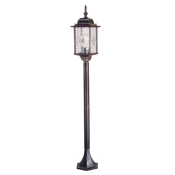 Elstead Lighting WX4 Wexford Black Silver Outdoor Pillar