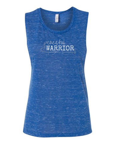 Peaceful Warrior Yoga Tank-Blue