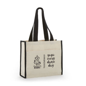 Yoga Every Damn Day Canvas Tote Bag