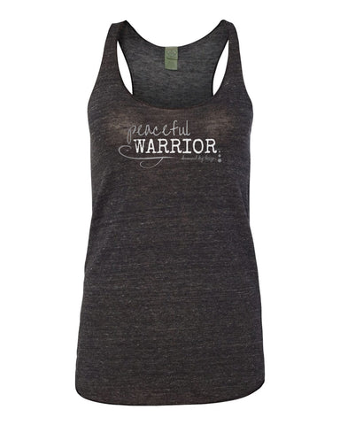 Peaceful Racer Back Yoga Tank-Dark Grey