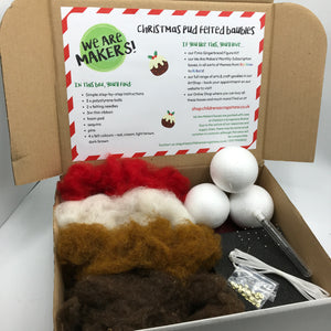 Christmas Pud Felted Bauble Kit