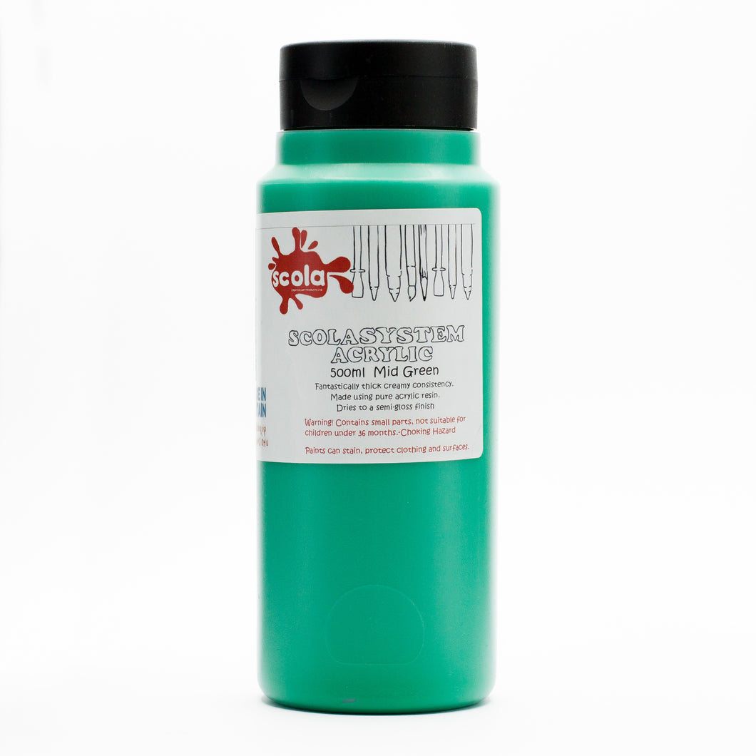 Scola System 500ml Acrylic Paint - Green