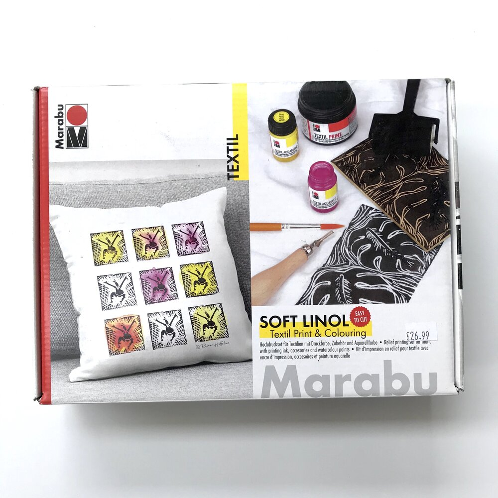 Lino Textile Print and Colouring Kit