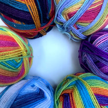 Load image into Gallery viewer, Multicoloured Double Knitting Yarn