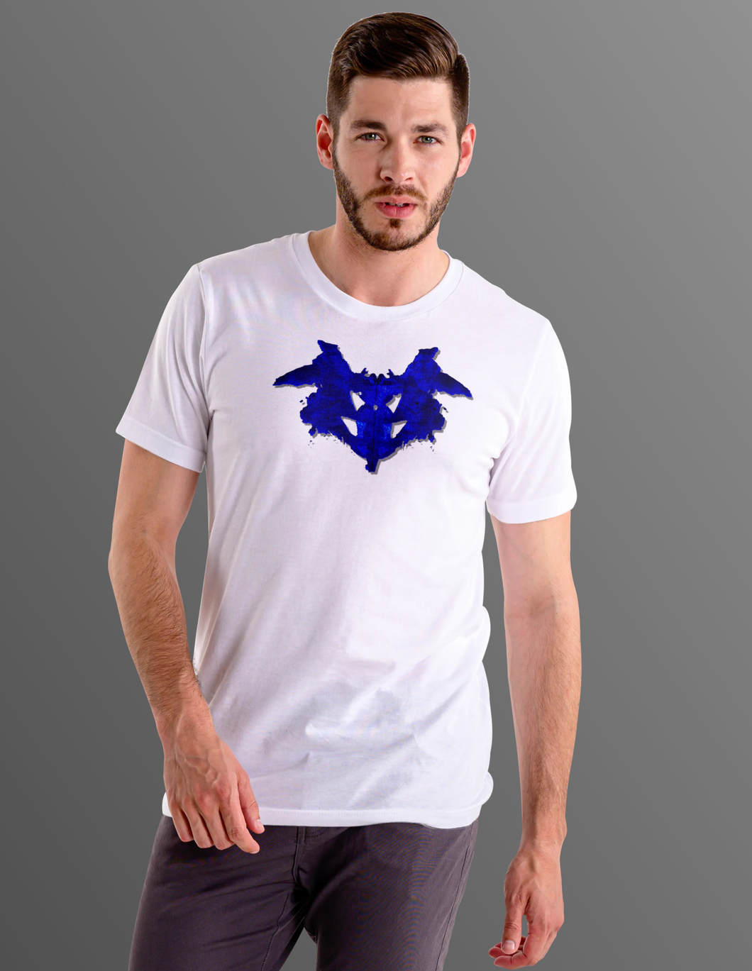 What do you see? Blue Ink Blot T-Shirt