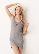 Load image into Gallery viewer, What do you see? Colorful Ink Blot Racerback Tank Dress