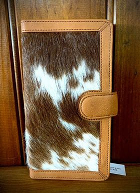 Belle Couleur Zoe – Dark Speckled Tan and White Cowhide Wallet-Handbags & Wallets-Morven News & Friendly Grocer