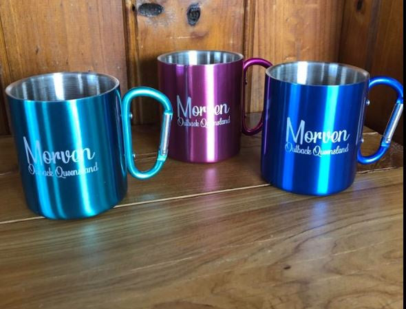 Morven Thermo Stainless Mug with Carabiner Handle-Souvenirs-Morven News & Friendly Grocer
