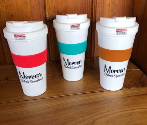 Coffee & Reusable Travel Cup (white)-Souvenirs-Morven News & Friendly Grocer