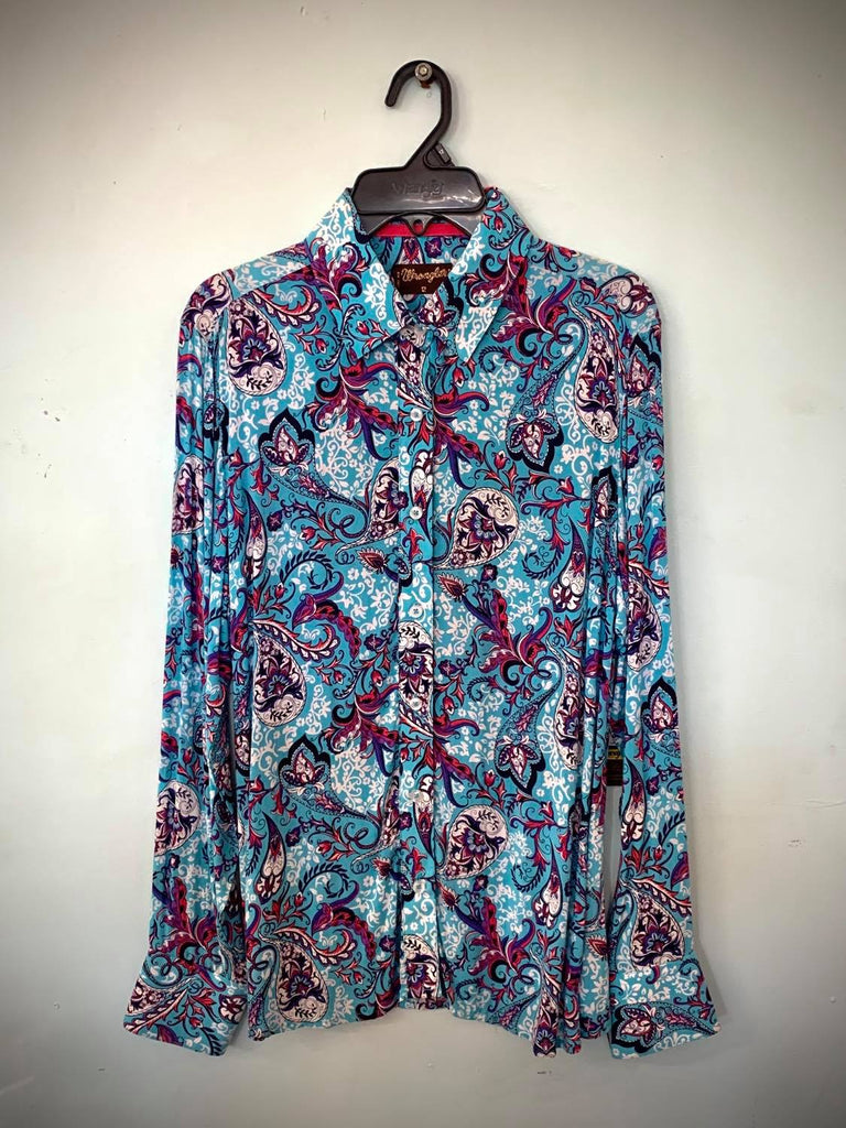 Wrangler Blue & Vintage Flowers Size 12-Clothing-Morven News & Friendly Grocer
