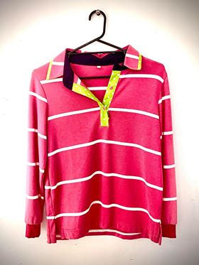 Netties Jasmine Relaxed Polo Shirt Size S-Clothing-Morven News & Friendly Grocer