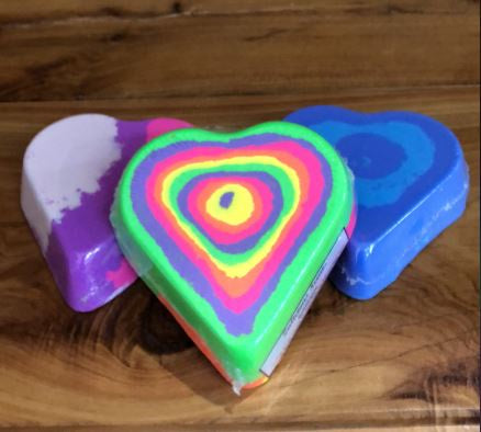 Zalicious Scents Large Heart Bath Bombs-Bath & Beauty-Morven News & Friendly Grocer