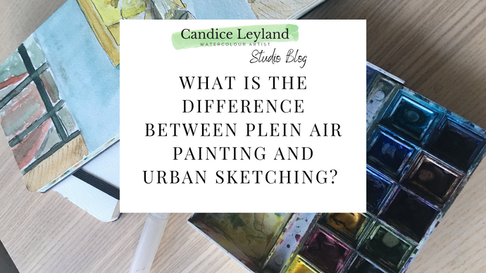 What is the difference between Plein Air Painting and Urban Sketching?
