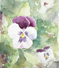 Load image into Gallery viewer, Delicate Purple Pansies