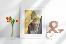 Load image into Gallery viewer, Tigger at the Window - Fine Art Print