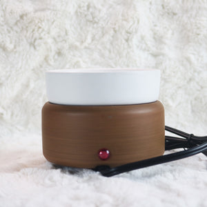 wood grain white brown electric plugin candle wax melt warmer