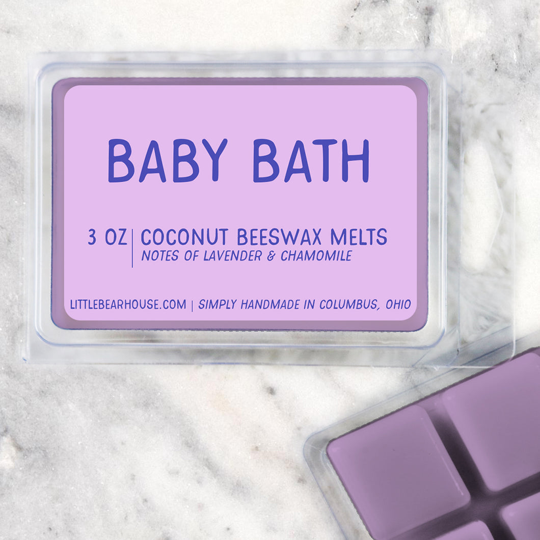 Baby Bath Lavender Chamomile Strong Scented Beeswax Wax Melts