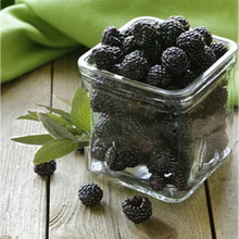 Load image into Gallery viewer, Glass of blackberries and leaves of sage wax scent