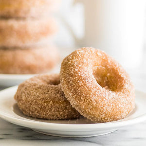 Cinnamon & Sugar tossed donuts on a plate wax scent
