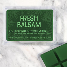 Load image into Gallery viewer, fresh balsam Strong Scented Beeswax Wax Melts