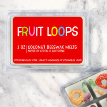 Load image into Gallery viewer, Fruit Loops Cereal Strong Scented Beeswax Wax Melts