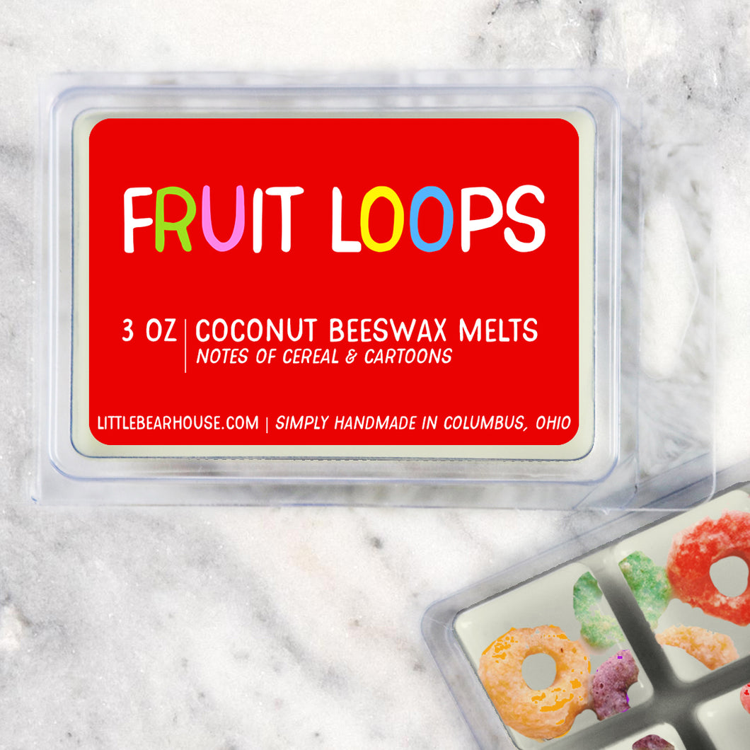 Fruit Loops Cereal Strong Scented Beeswax Wax Melts