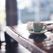 Load image into Gallery viewer, Cup of Coffee sitting on table at a cafe in a coffee shop wax scent