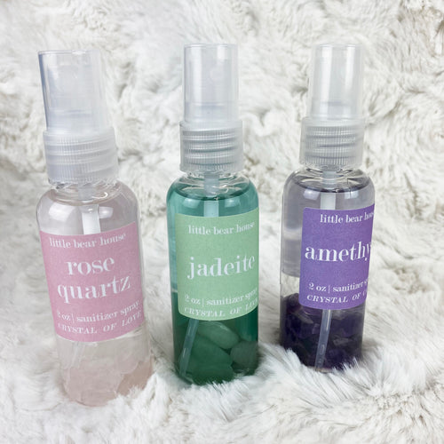 Crystal Infused Spray Hand Sanitizers