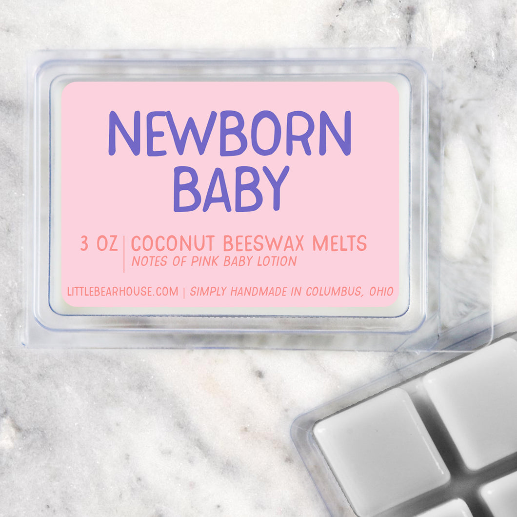 Newborn Baby Strong Scented Beeswax Wax Melts