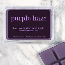 Load image into Gallery viewer, Purple Haze Strong Scented Beeswax Wax Melts
