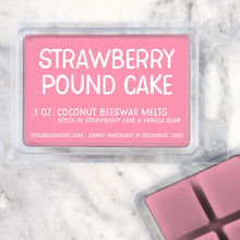 Load image into Gallery viewer, Strawberry Pound Cake Strong Scented Beeswax Wax Melts